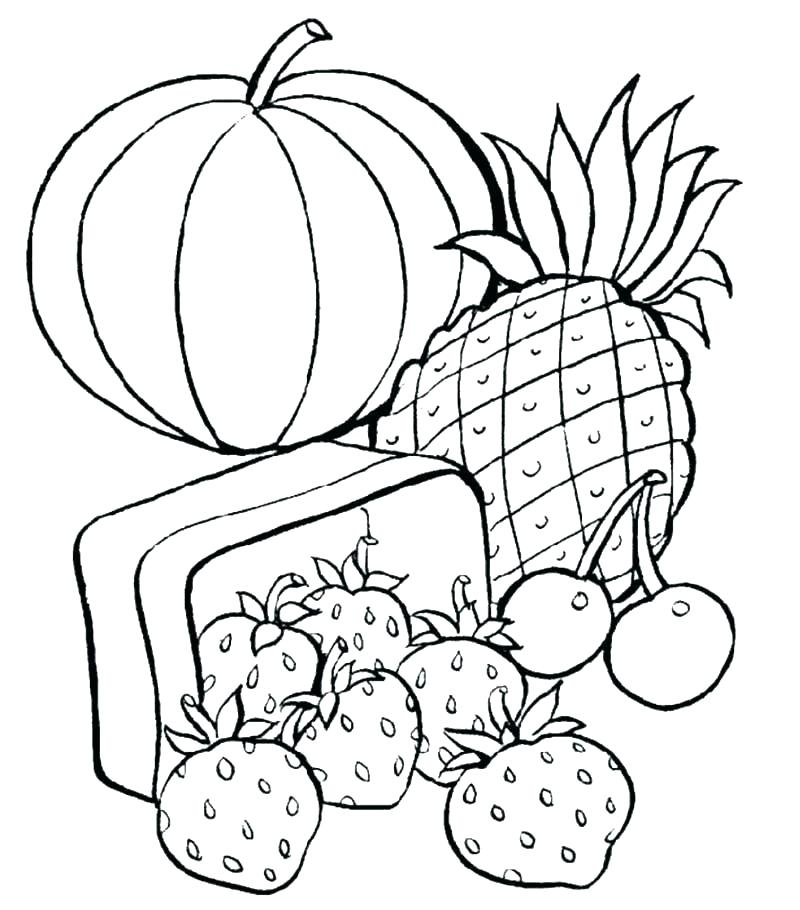 800x910 Unhealthy Food Coloring Pages