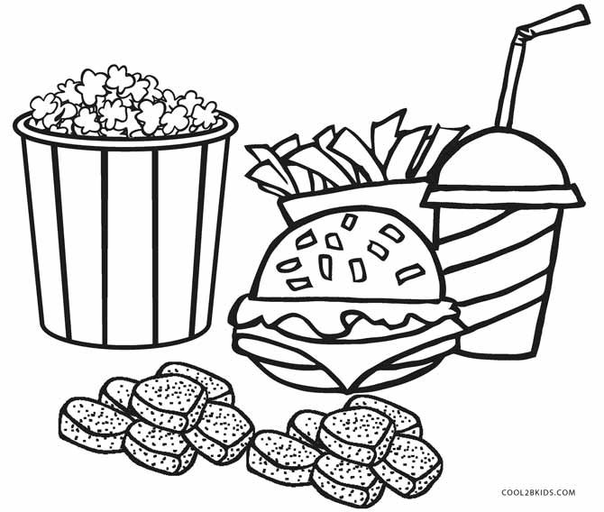 670x568 Free Printable Food Coloring Pages For Kids