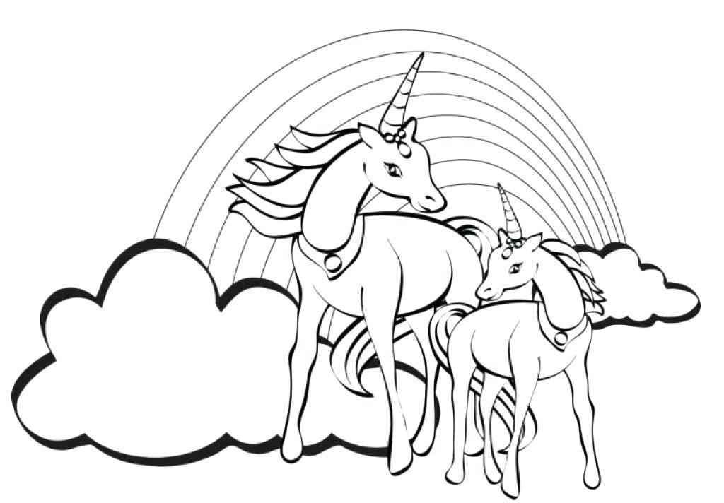 1024x712 Rainbow Coloring Page Unicorn Coloring Pages Printable Unicorn