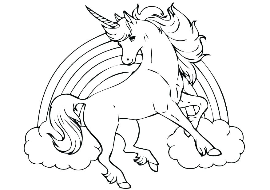 878x620 Unicorn Rainbow Coloring Pages