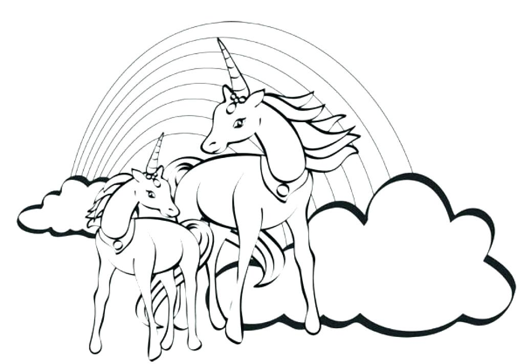 Unicorn And Rainbow Coloring Pages At Getdrawings Com Free For