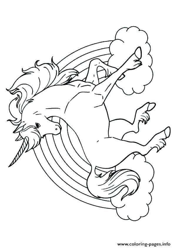 595x842 Unicorn Rainbow Coloring Pages Rainbow Coloring Pages Printable
