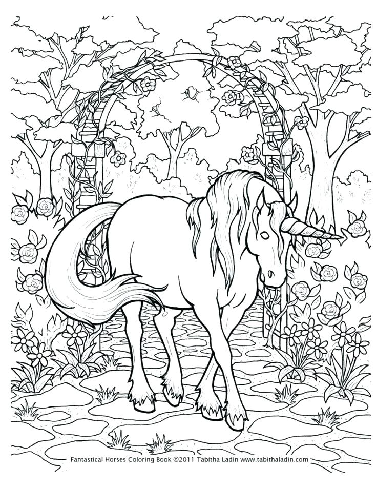 736x952 Unicorn Rainbow Coloring Pages Unicorn Coloring Page Detailed