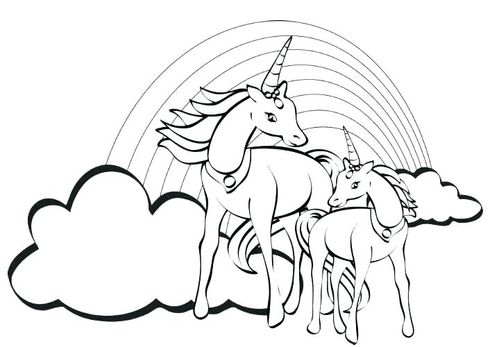 719x500 Unicorn Rainbow Coloring Pages Unicorn Rainbow Coloring Page