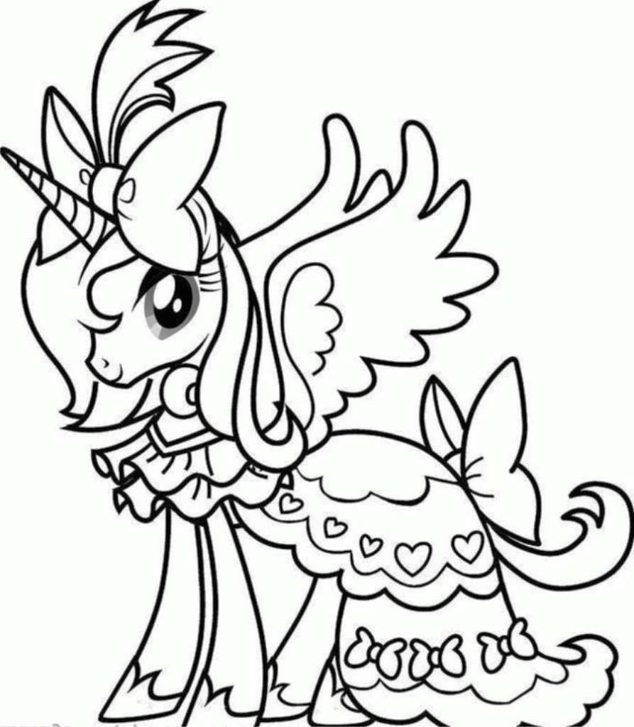893x1024 Unicorn Rainbow Coloring Pages Unicorns Cute Baby Best Of To Color