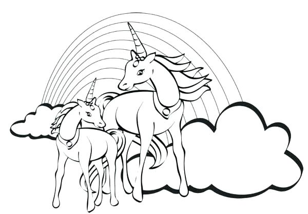 600x417 Printable Unicorn Rainbow Coloring Pages As Well As Coloring