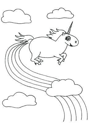 306x400 Printable Unicorn Rainbow Coloring Pages As Well As Drawn Unicorn