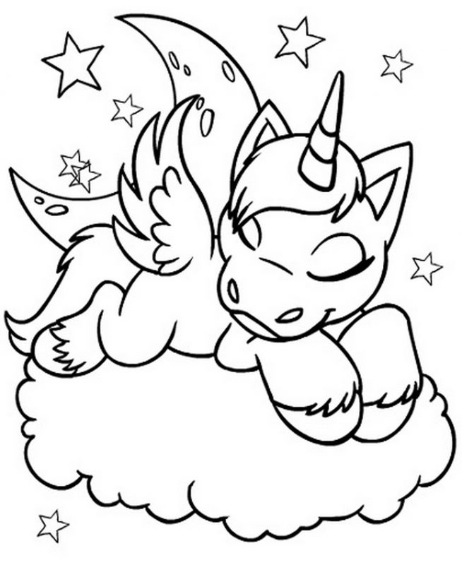 654x800 Unicorn Coloring Pages Printable Learning Printable