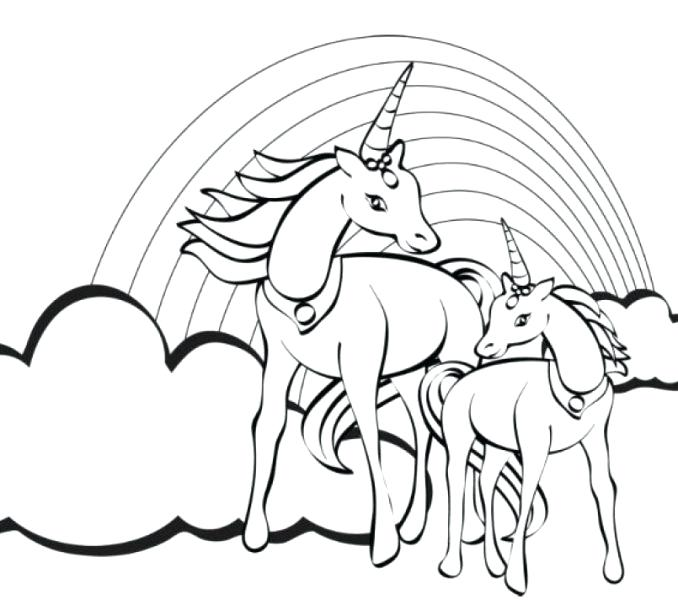 678x600 Fresh Rainbow Unicorn Coloring Pages For Your Free Coloring