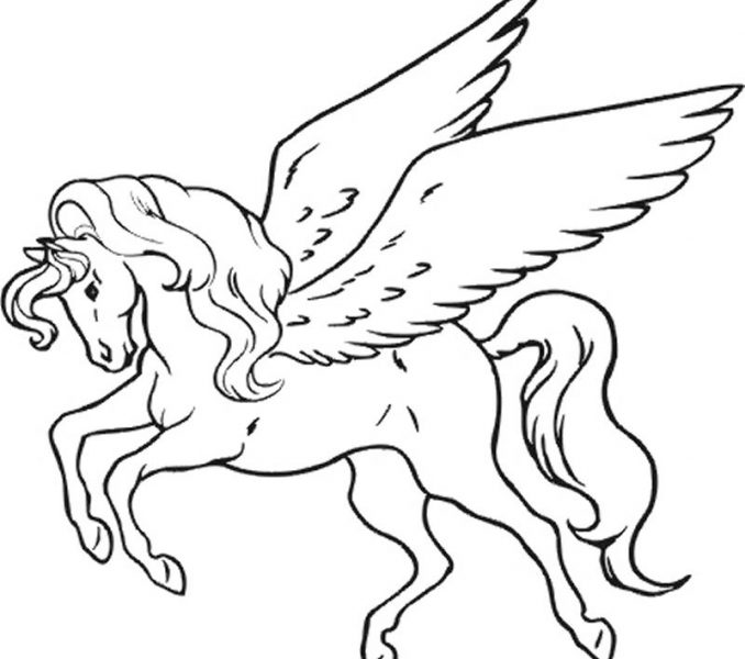 678x600 Pictures Of Unicorns To Colour In Unicorn Coloring Pictures