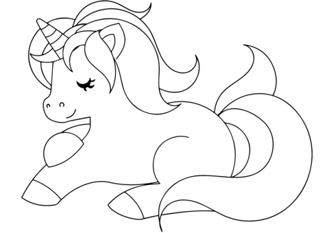 480x340 Free Printable Coloring Pages Of Unicorns Cute Unicorn Coloring