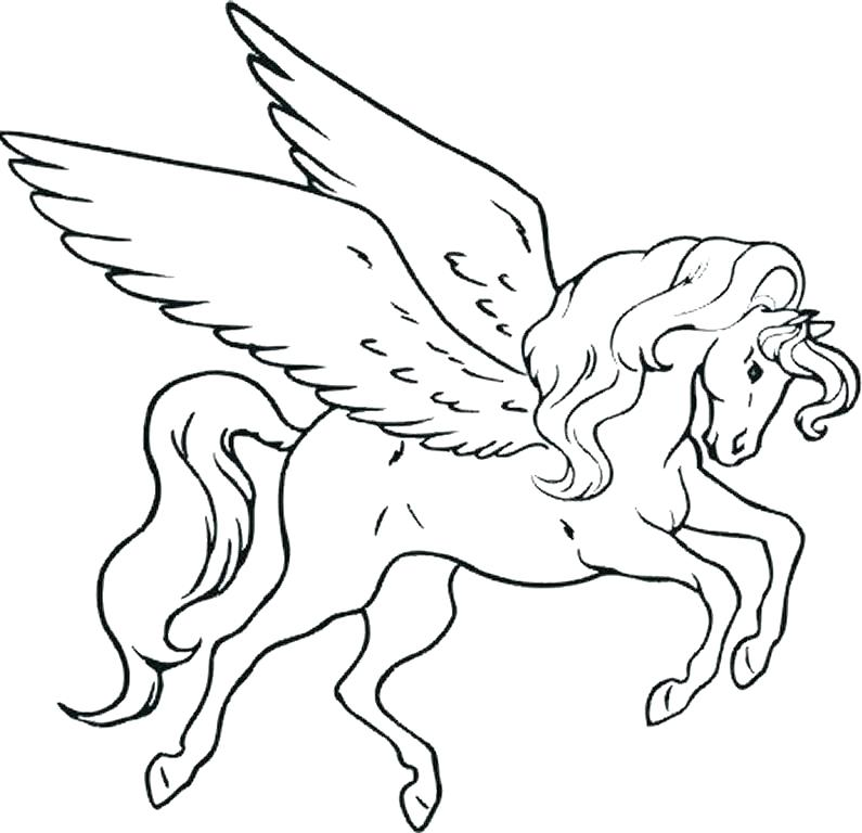 795x768 Unicorn Coloring Pages For Kids Unicorn Coloring Pages Cute