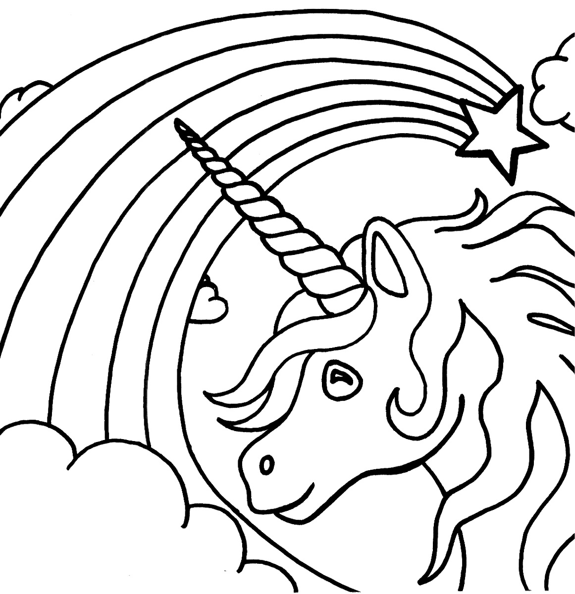 1161x1200 Coloring Pages Unicorn Color Rainbow Inside