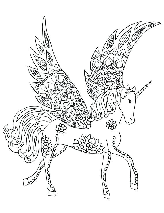 570x738 Printable Unicorn Coloring Pages For Adults Kids Coloring
