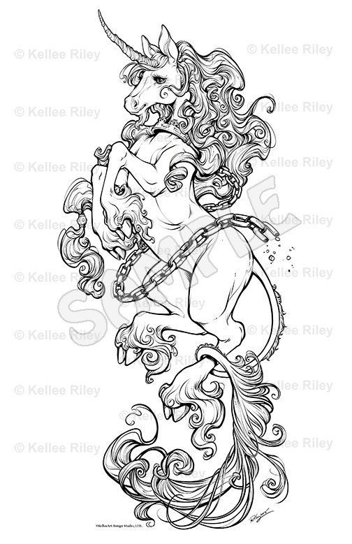 504x779 Unicorn Adult Coloring Pages