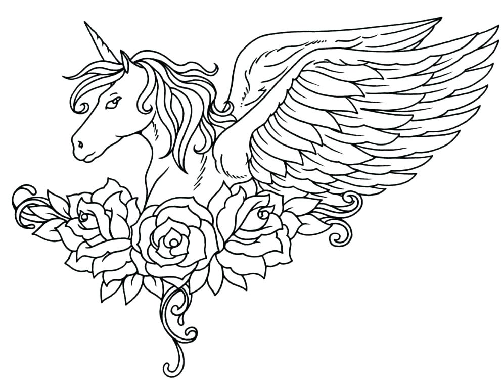 995x768 Unicorn Coloring Pages For Adults Amazing Free Printable Unicorn