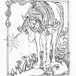268x268 Unicorn Coloring Pages For Adults Archives