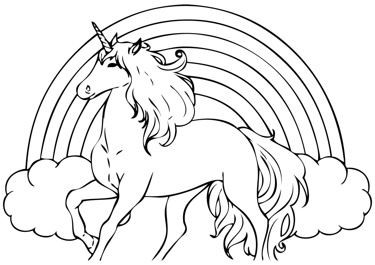 Unicorn Coloring Pages For Girls At Getdrawings Free Download