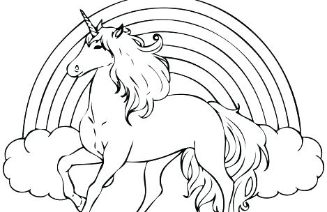 469x304 Unicorn Coloring Pages Realistic Unicorn Coloring Pages Unicorn