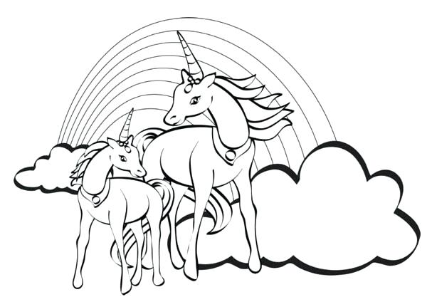 Unicorn Coloring Pages For Kids