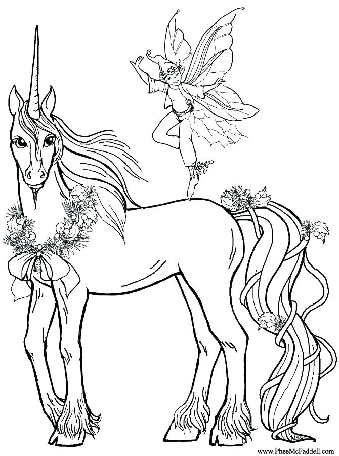 670x900 Unicorn Coloring Pages Printable Rainbow Realistic Free Online