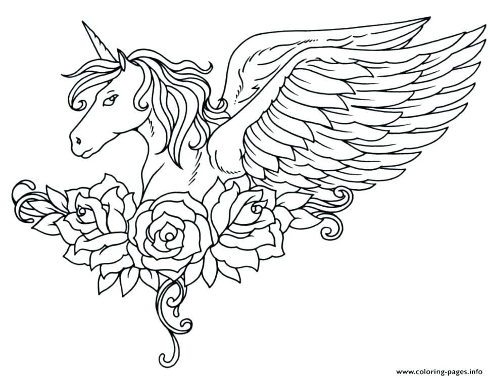970x748 Unicorns Coloring Pages Funny Unicorns Coloring Page Baby Unicorn