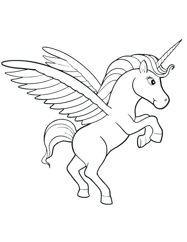 612x792 Coloring Pages Unicorns