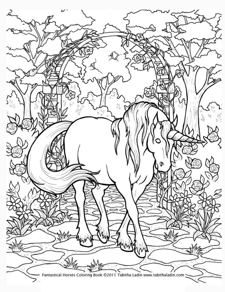 786x1017 Unicorn Coloring Pages Online Free On With Of Unicorns