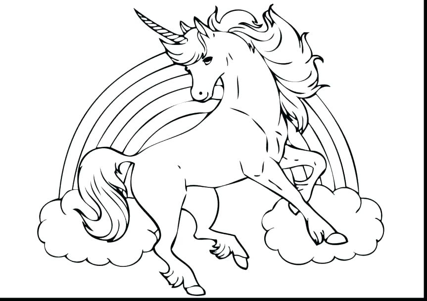 863x609 Unicorn Coloring Pages Online Unicorn Coloring Pages Printable
