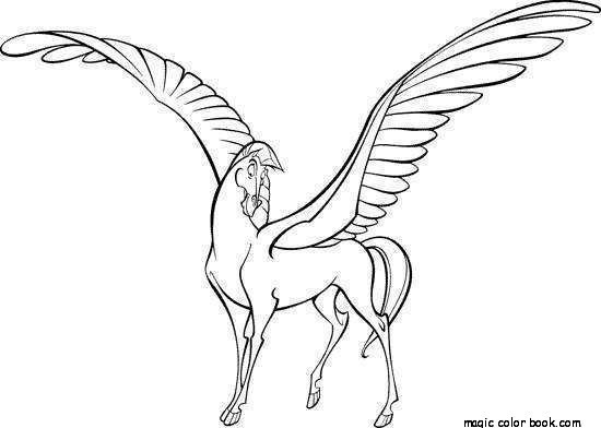 550x392 Horse Pegasus Fantasy Unicorn Coloring Pages Online Free