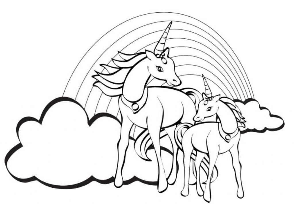 Unicorn Coloring Pages Pdf At Getdrawings Com Free For