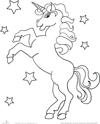 Unicorn Coloring Pages To Print At Getdrawings Com Free For