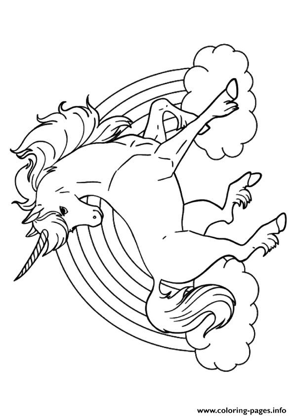 595x842 Rainbow Unicorn Unicorn Coloring Pages Printable
