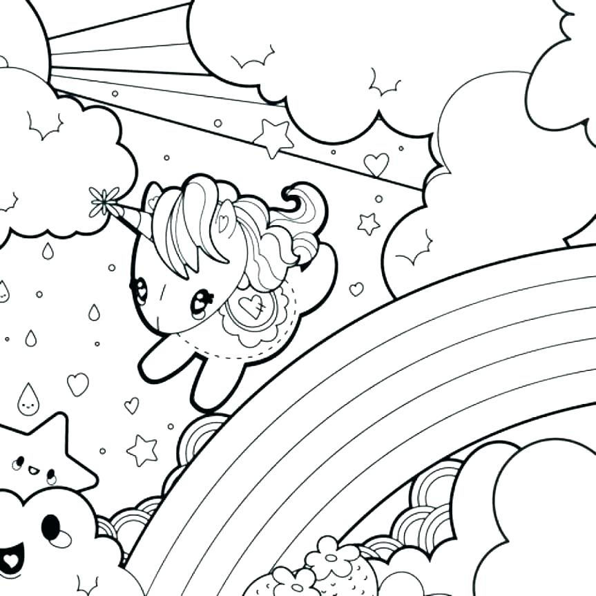 863x863 Rainbows Coloring Pages Rainbow Coloring Pages Unicorn Rainbow