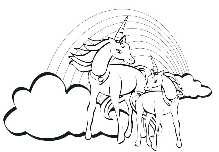 719x500 Cute Unicorn Coloring Pages Printable Printable Coloring Cute
