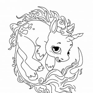 300x300 Cute Unicorn Coloring Pages To Print Fresh Kawaii Cat Unicorn