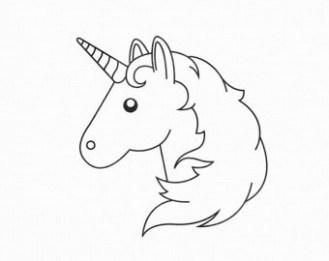 unicorn emoji coloring pages at getdrawings free