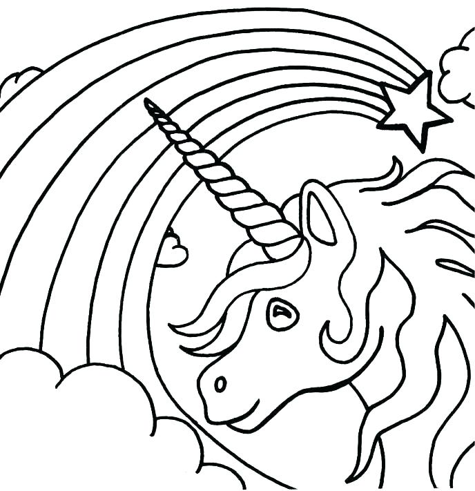 688x711 Unicorn Color Pages Unicorn Head Coloring Pages Rainbow Unicorn