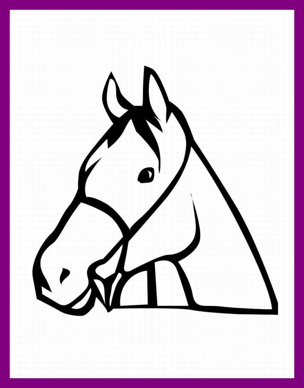 1002x1277 Astonishing Unicorn Head Coloring Pages Image Of Horse Style