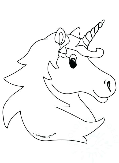 508x694 Carnival Coloring Pages Vector Illustration Magic Unicorn Head