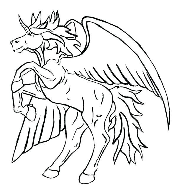 600x648 Pegasus Coloring Page Unicorn Coloring Page Beyblade Pegasus