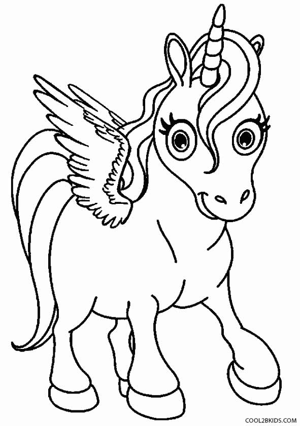 591x840 Printable Pegasus Coloring Pages For Kids
