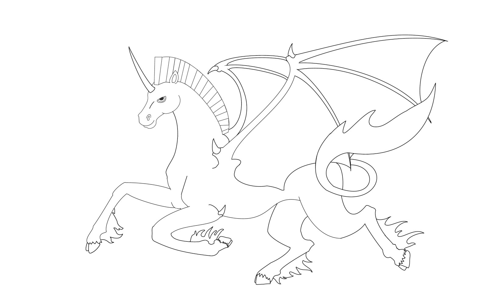 Unicorn Pegasus Coloring Pages At Getdrawingscom Free For