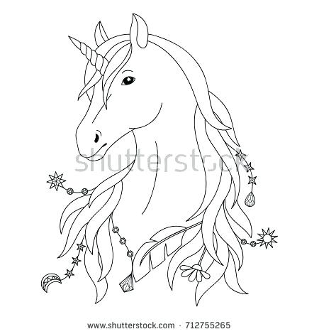 450x470 Unicorn Pictures To Color Plus Unicorn Black And White Tattoo