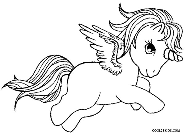 600x438 Printable Pegasus Coloring Pages For Kids Winged