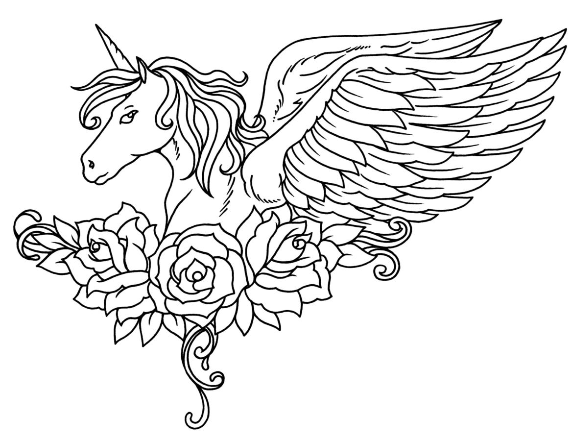 Unicorn Pegasus Coloring Pages at GetDrawings.com | Free for ...