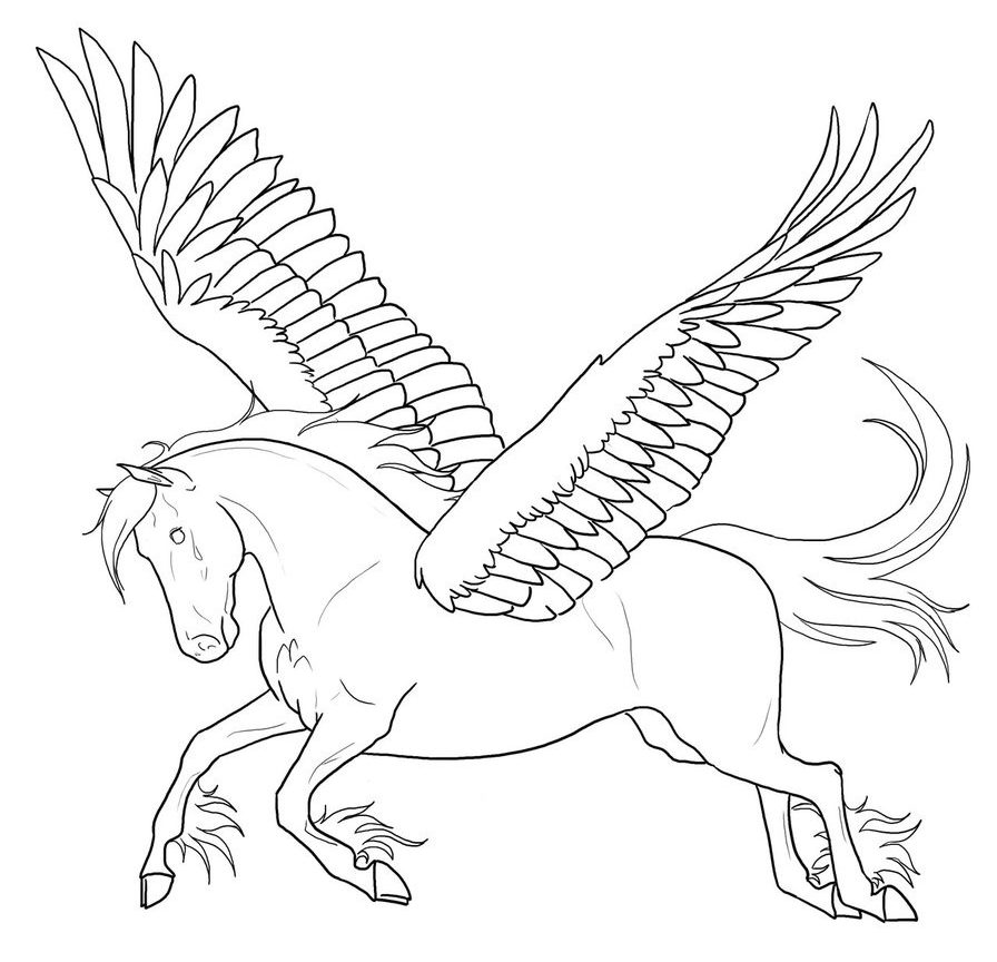 896x864 Free To Print Pegusus Coloring Pages For Kids Excellent Pegasus