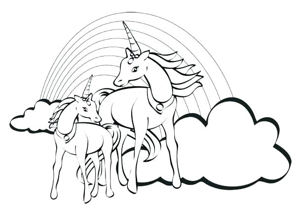 600x417 Rainbows Coloring Pages Unicorn Rainbow Coloring Pages Together