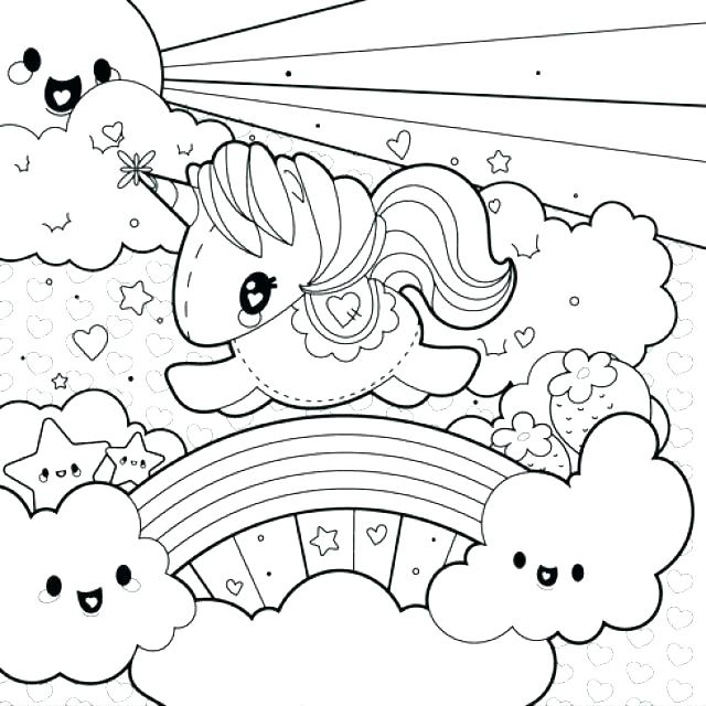 Unicorn Rainbow Coloring Pages At Getdrawings Com Free For