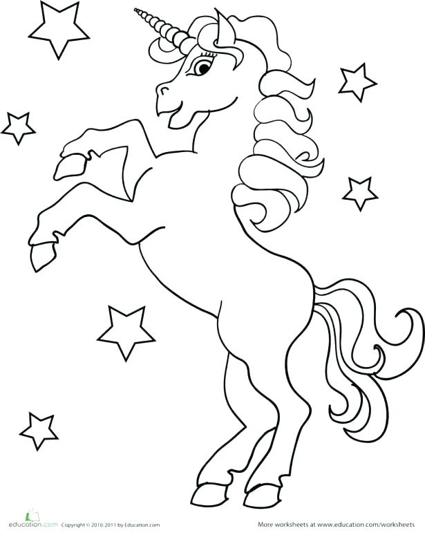 615x774 Unicorn Color Page Unicorn With Wings Coloring Pages Medium Size